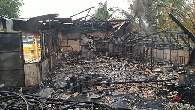 tahfiz terbakar rosak