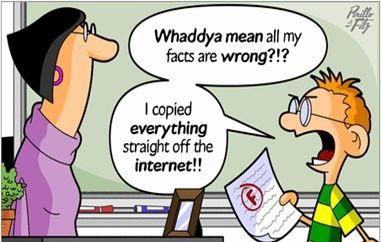 tak semua benda di internet itu betul anda perlu pandai memilih dan menilai