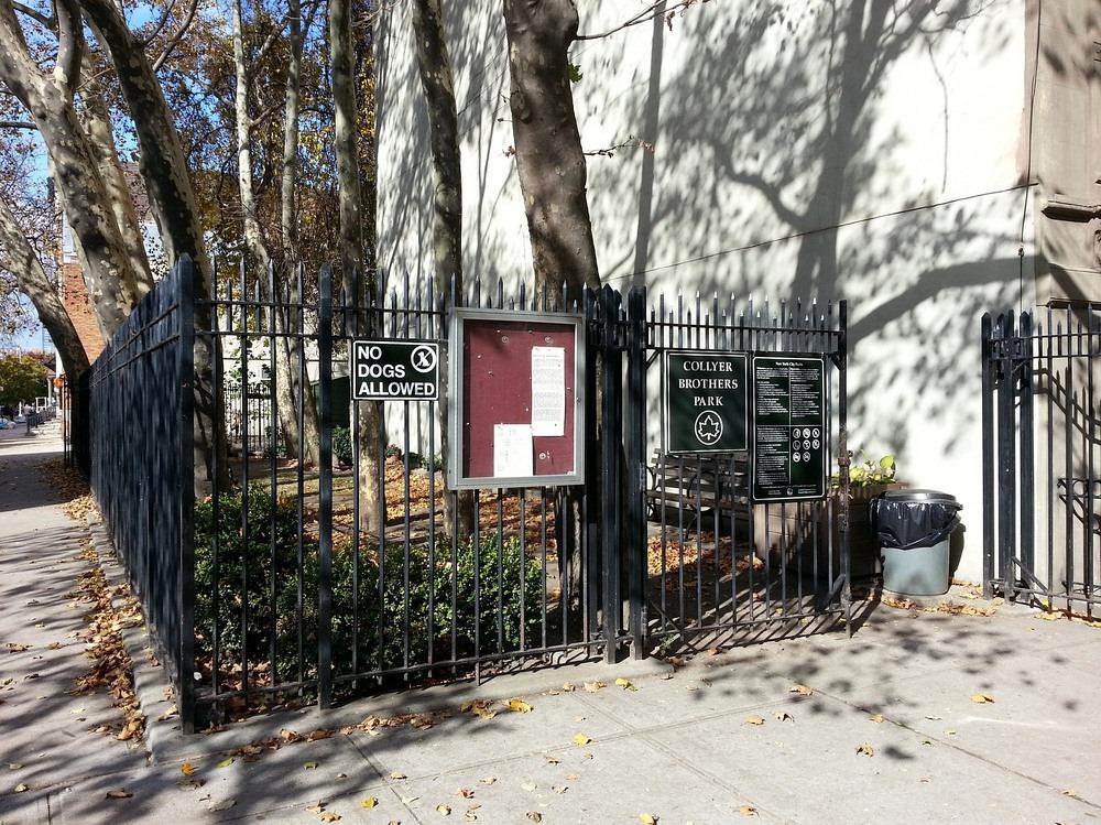 taman poket collyer brothers di tapak asal rumah mereka