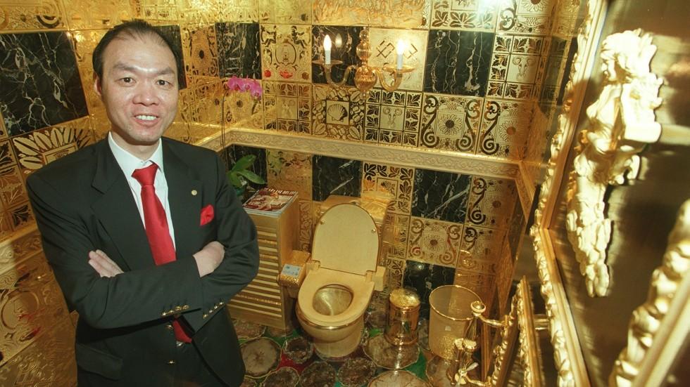 tandas emas 7 item pelik yang dihasilkan dan disalut emas