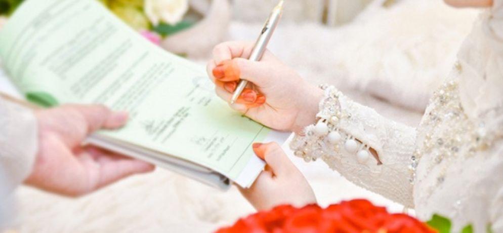 tandatangani sikil perkahwinan