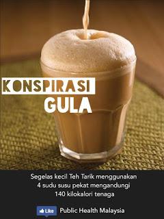 teh tarik minuman kegemaran malaysia tapi tinggi kandungan gula