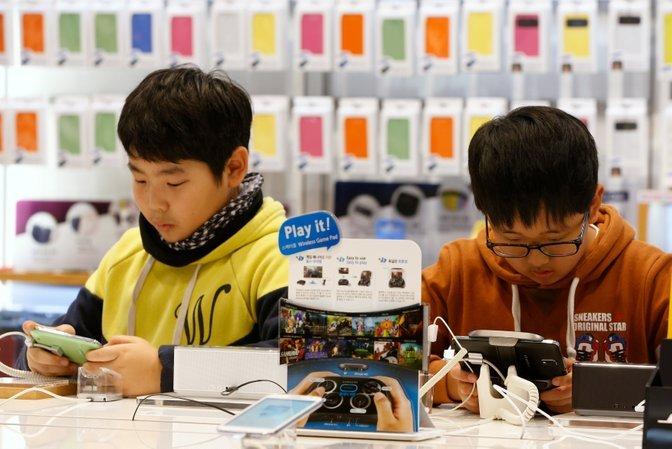 telefon pintar banyak digunakan di korea selatan