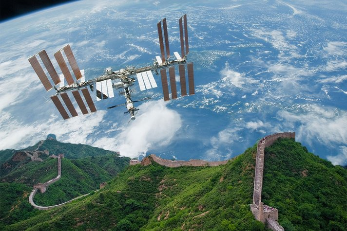 tembok besar china dari angkasa