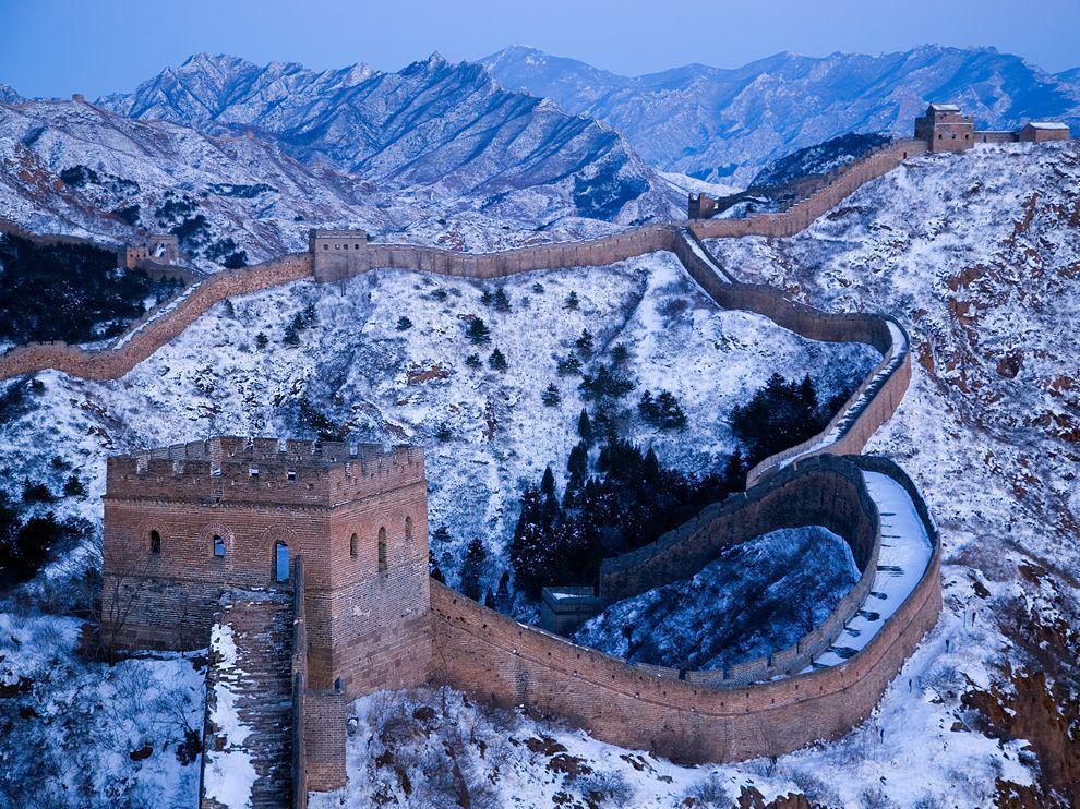 tembok besar china pada musim sejuk