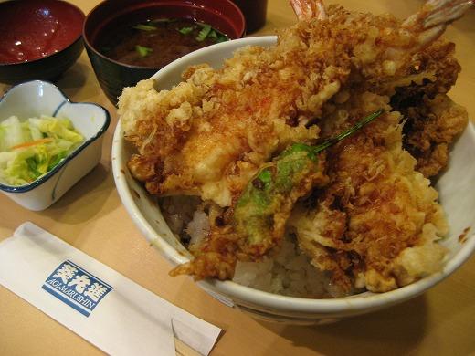 tempura donburi hidangan nasi bersama lauk tempura