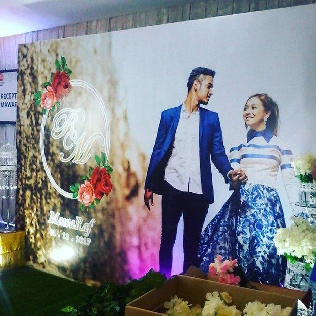 terlajak romatik foto foto majlis resepsi perkahwinan raf yaakob dan mawar rashid 14
