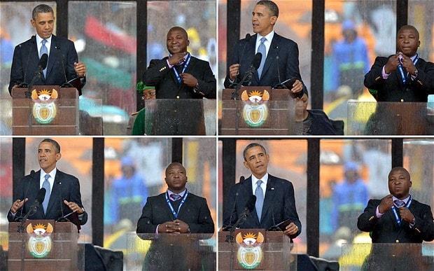 thamsanqa jantjie sedang terjemahkan ucapan barack obama