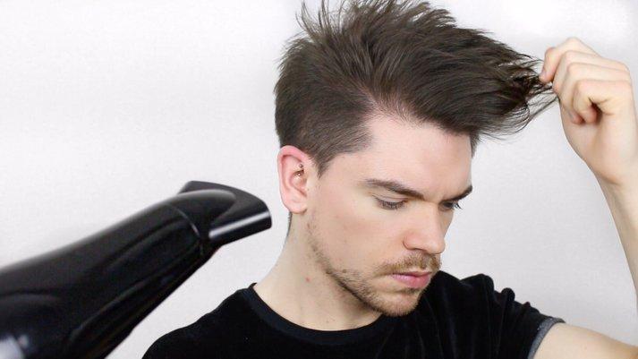 tiba tiba suami pandai guna hairdryer pakai pomade sikat rambut cantik cantik bau wangi