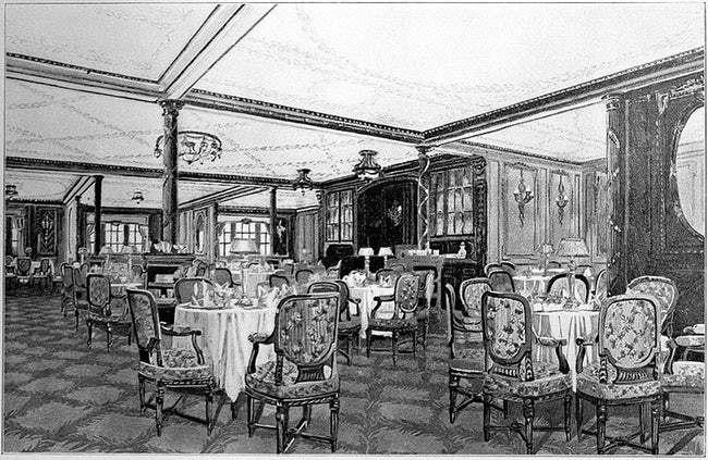 titanic ritz hotel
