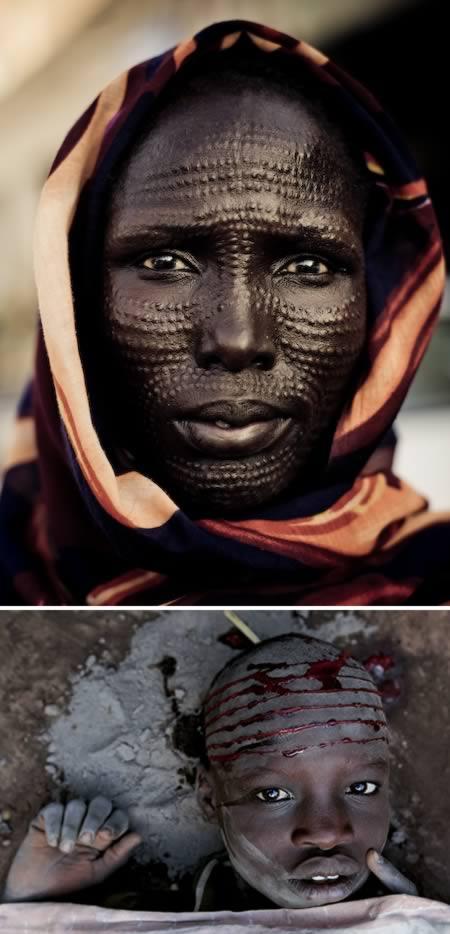 toreh muka buat tatu di muka modifikasi tubuh