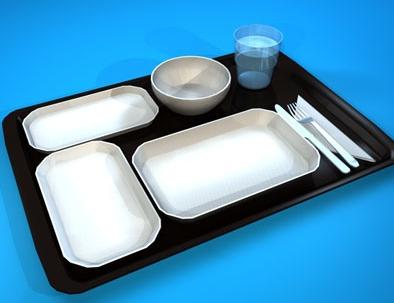 tray makanan atas pesawat