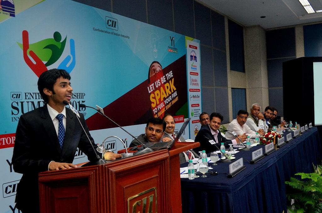 trishneet arora founder tac security solutions addresss cii entrepreneurship summit 2015 395