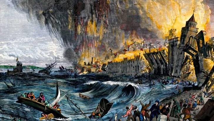 tsunami paling buruk teruk dalam sejarah rekod dunia gempa bumi lisbon portugal