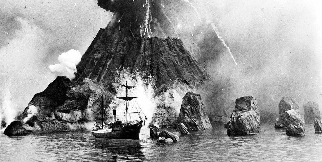 tsunami paling buruk teruk dalam sejarah rekod dunia letusan krakatau indonesia