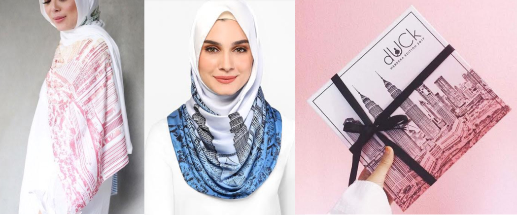 tudung duck scarves merdeka edition limited 579