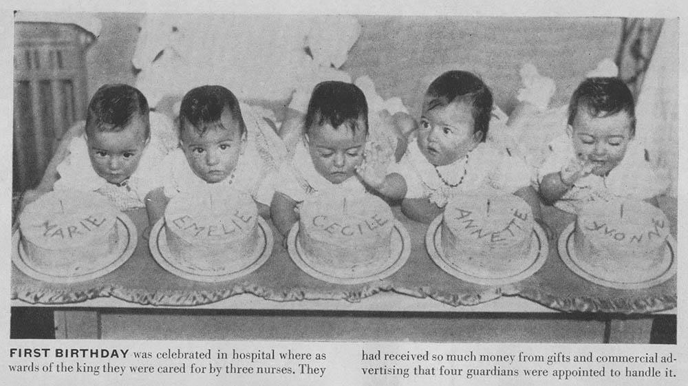 ulang tahun pertama kembar dionne