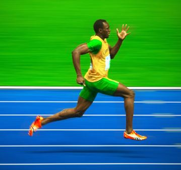usain bolt stride