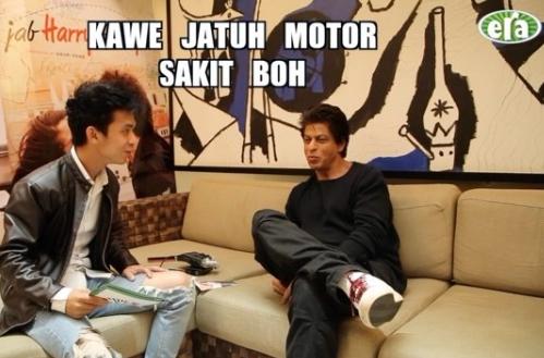 video lucu jaa era fm ajar shah rukh khan cakap dialek melaka dan kelantan 2