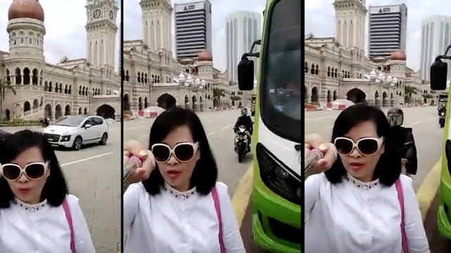 video pelancong wanita diragut ketika selfie di dataran merdeka