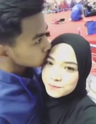 video ruhainies dicium mesra lelaki