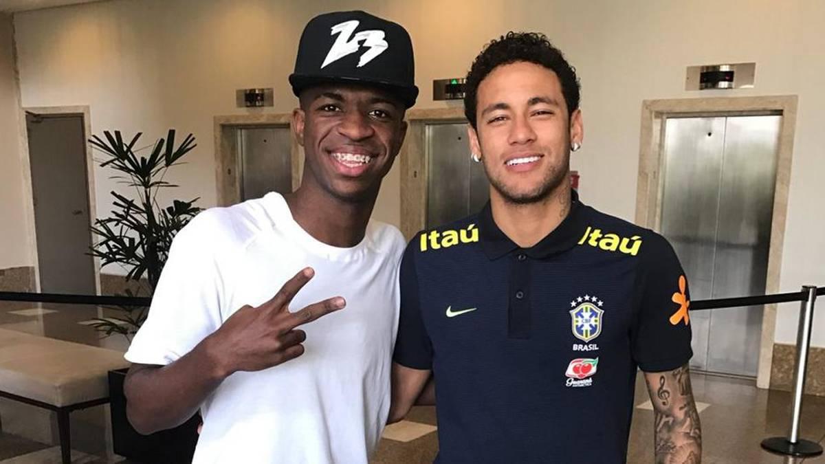 vinicius junior dan neymar