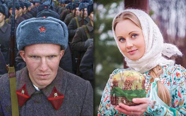 wajah lelaki dan wanita russia