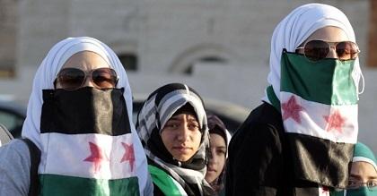wanita syria menentang keganasan dan konflik di negara mereka