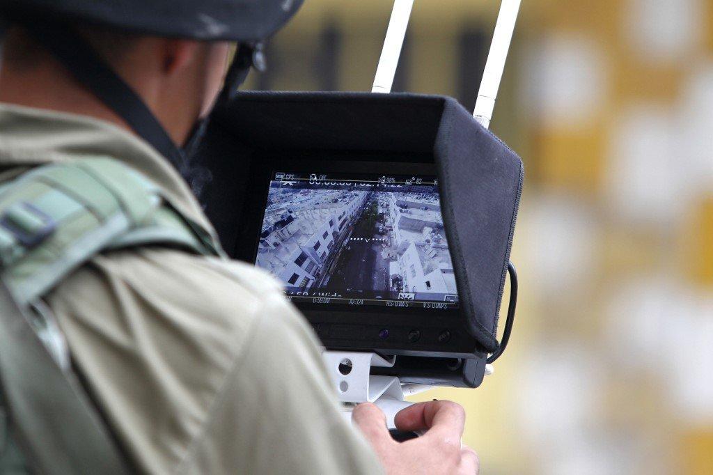 warga israel pantau palestin guna dron