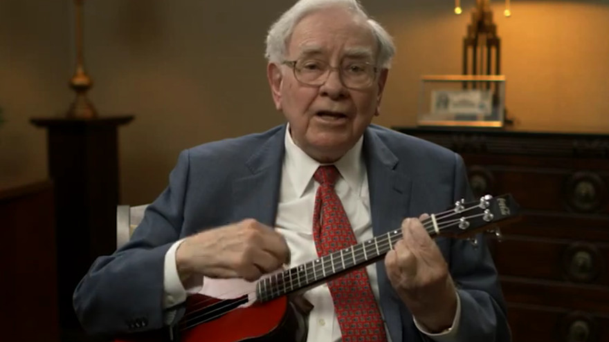 warren buffet gemar main ukulele