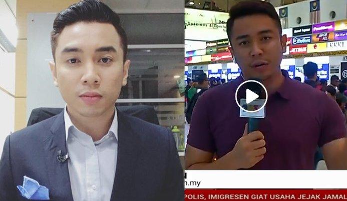 wartawan tv3 menyanyi lagu raya ketika liputan secara langsung dihentam bekas pembaca berita 1