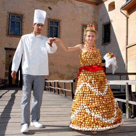 wedding dress boleh makan gemuk sedap creampuffs
