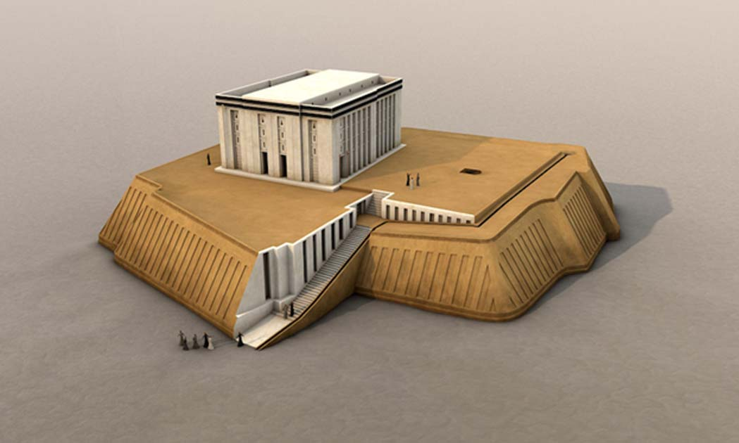 white temple and the great ziggurat