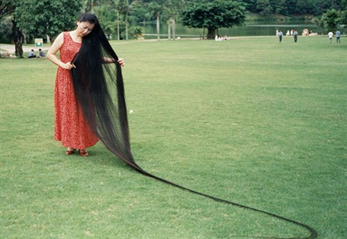 xie qiuping rambut paling panjang di dunia