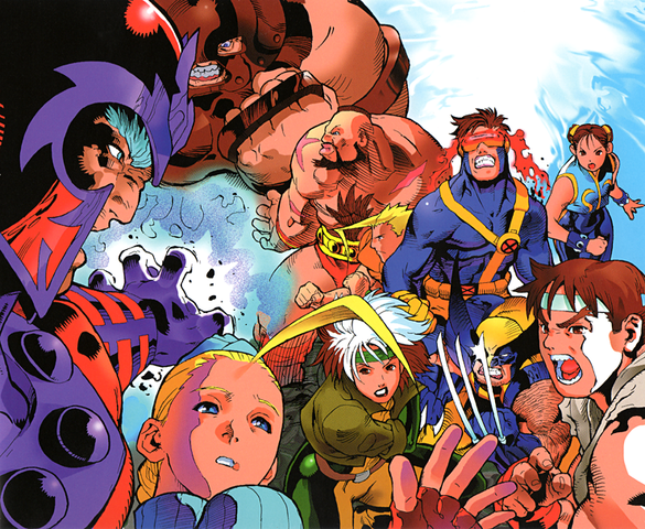 xmen street fighter poster