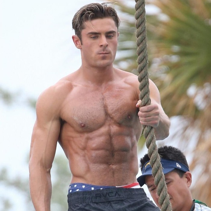 zac efron six pack abs