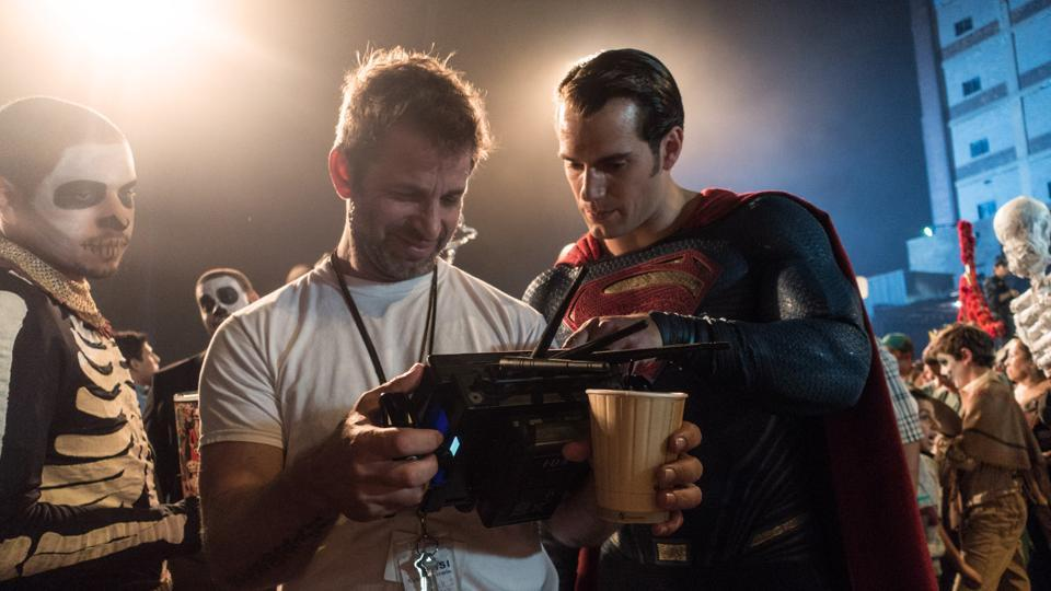 zack snyder dengan cosplayer superman