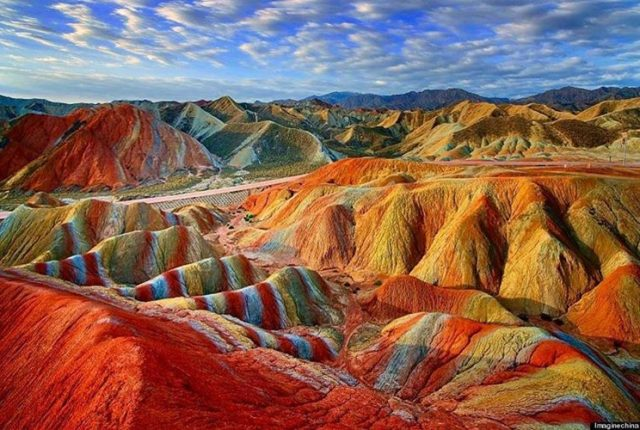 zhangye national geopark china tempat alien