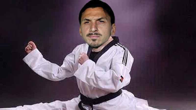 zlatan taekwondo buat split